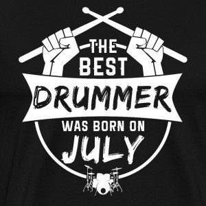 The best drummers were born in July - Men's Premium T-Shirt