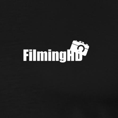FilmingHD White Logo - Mannen Premium T-shirt