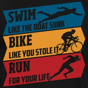 Swim - Bike - Run - Mannen Premium T-shirt