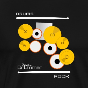 Drums Rock White - T-shirt Premium Homme