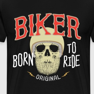 Born to Ride - Premium-T-shirt herr
