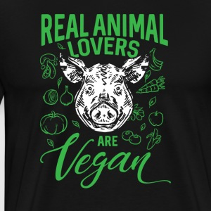Real Animal Lovers Are Vegan - Mannen Premium T-shirt