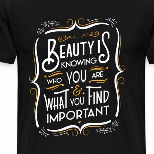 La beauté c'est de savoir (Jaune) - Men's Premium T-Shirt