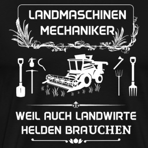 Landwmaschinenmechaniker - Because even farmers Hel - Men's Premium T-Shirt