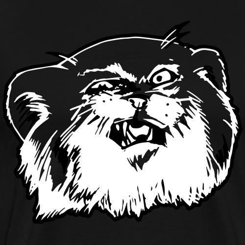 Pallaskatze Manul Gesicht - Männer Premium T-Shirt