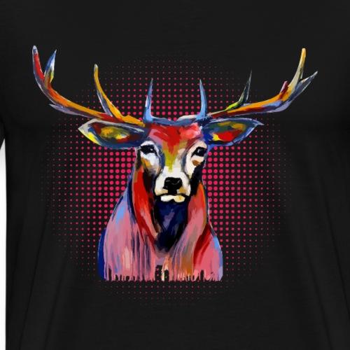 Gepunkteter Hirsch - Männer Premium T-Shirt