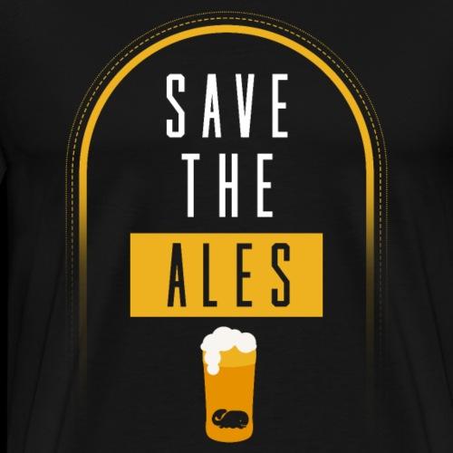 Bierbrauer Ale Hopfen Craft Bier Wortspiel Wale - Männer Premium T-Shirt