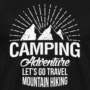 Camping Adventure - Premium T-skjorte for menn
