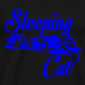 Sleeping cat blue - Männer Premium T-Shirt