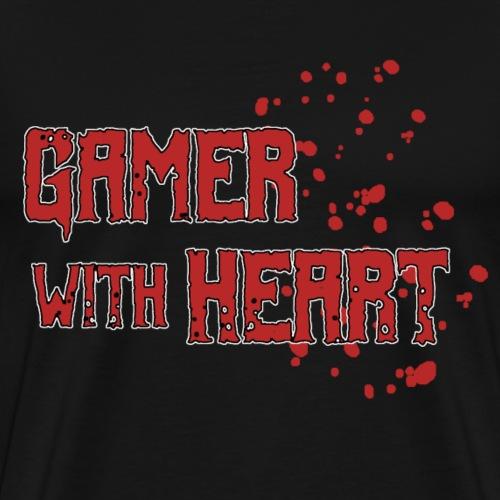 Gamer with heart - Men's Premium T-Shirt