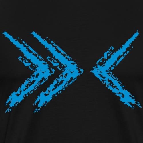 Wegzeichen Feind - Kreidestrich - Farbe wählbar - Männer Premium T-Shirt