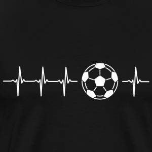I love football (soccer heartbeat) - Men's Premium T-Shirt
