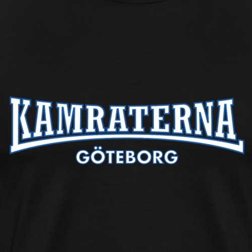 Kamraterna Göteborg Vit - Premium-T-shirt herr
