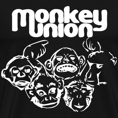 Union of the Monkey T shirt white - Men's Premium T-Shirt