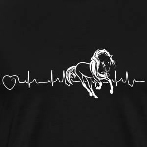 Horses are my heartbeat - Men's Premium T-Shirt