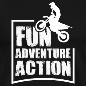 Enduro FUN ADVENTURE ACTION - Men's Premium T-Shirt