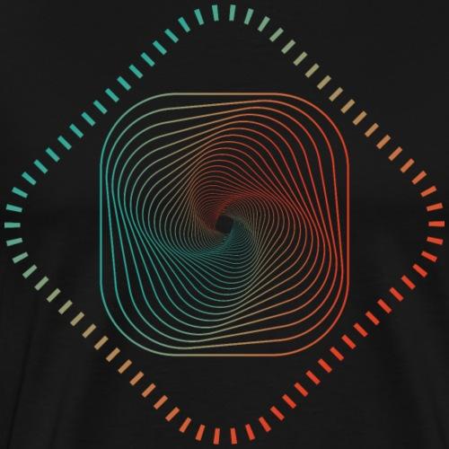 dice dice peng, gradient farbige Kunst - Männer Premium T-Shirt