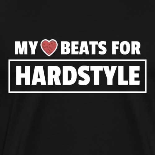 Hardstyle Merchandise My Heart beats for Hardstyle - Men's Premium T-Shirt