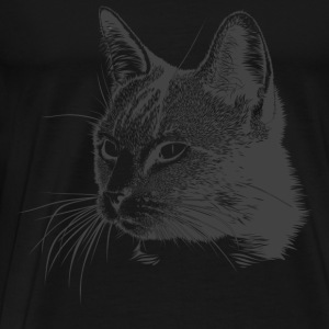 Cat Kitty Mitz kitten sweet meow cat head - Men's Premium T-Shirt