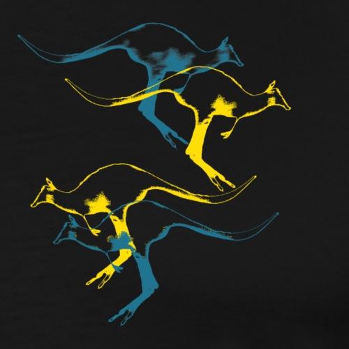 Känguru in Action = Weltforscher - Männer Premium T-Shirt