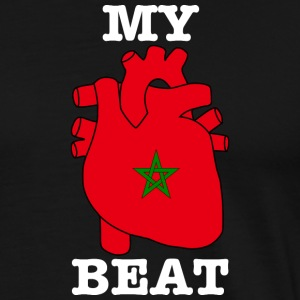 Morocco Morocco المغرب MY HEARTBEAT - Men's Premium T-Shirt