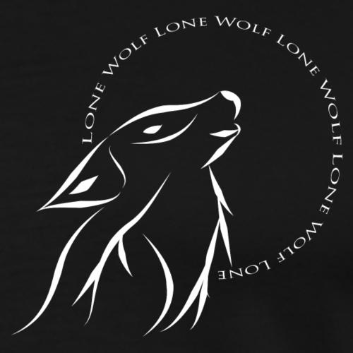 Lone wolf white - Men's Premium T-Shirt