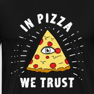 Pizza Illuminati Funny All Seeing Eye Food Humor - Männer Premium T-Shirt