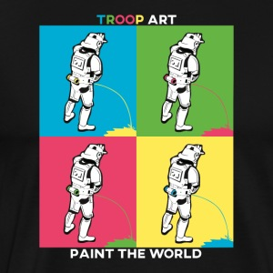 Troop Art - Stormtrooper at Pop Art Party - Men's Premium T-Shirt