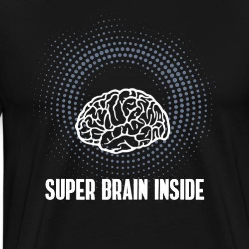 Super Brain inside Nerd Computer pc Gehirn klug lo - Männer Premium T-Shirt