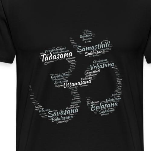OM - Yoga Positions - Männer Premium T-Shirt