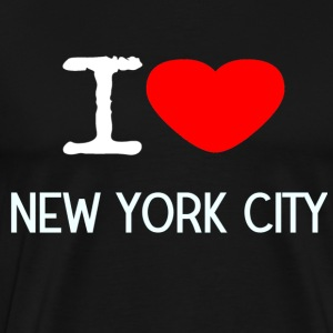 I LOVE NEW YORK CITY - Premium T-skjorte for menn