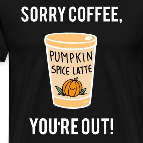 Pumpkin Spice Kürbis Kaffee Getränk Geschenk - Männer Premium T-Shirt