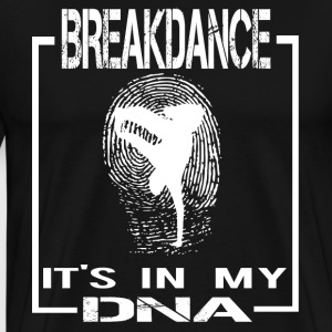 Breakdance DNA ENGLISH - Herre premium T-shirt