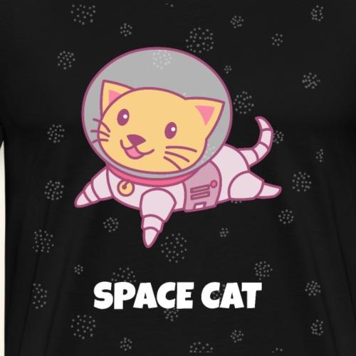Space Cat Katzen-Shirt Geschenke - Männer Premium T-Shirt
