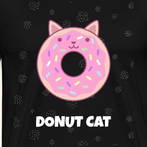 Donut Cat-Shirt Katzen-Shirt Geschenk - Männer Premium T-Shirt