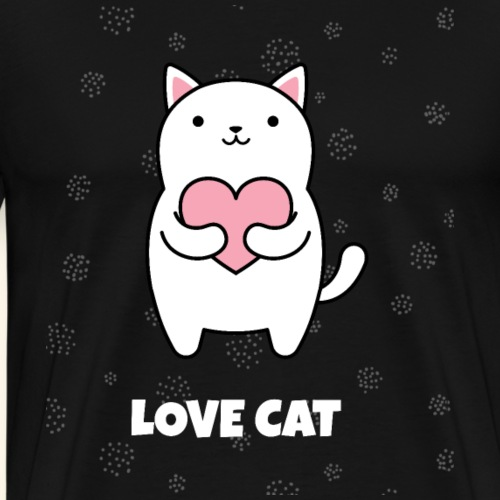 I Love Cat Katzen-Shirt Geschenke - Männer Premium T-Shirt
