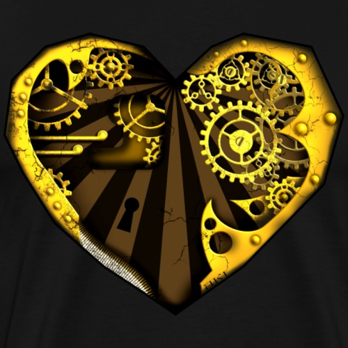 Steampunk Heart - Männer Premium T-Shirt