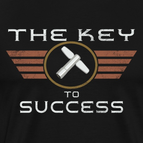 The key to success - Drummer T-Shirt - Männer Premium T-Shirt