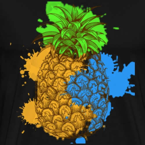 Abstract Pineapple Splash - Männer Premium T-Shirt