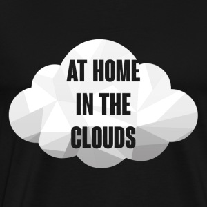 Hipster: At Home in the Clouds - Men's Premium T-Shirt
