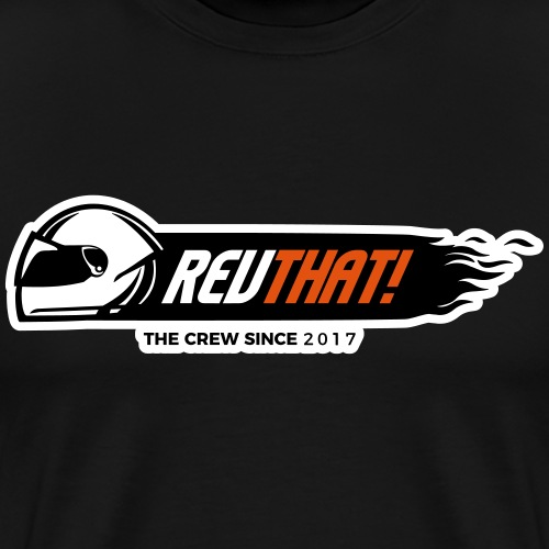 REVTHAT Flames Black - Mannen Premium T-shirt