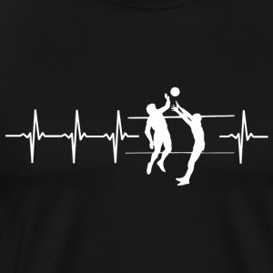 I love volleyball (volleyball heartbeat) - Men's Premium T-Shirt