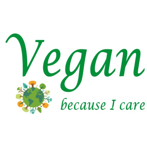 vegan because i care - Männer Premium T-Shirt