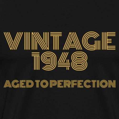 Vintage Pop Art 1948 Birthday. Aged to perfection. - Men's Premium T-Shirt