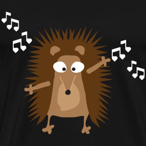 Igel - Musik - Geschenk - Musiknoten - Singen - Männer Premium T-Shirt
