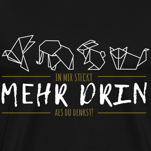 MEHR DRIN Origami | Das bunte Zebra - Männer Premium T-Shirt