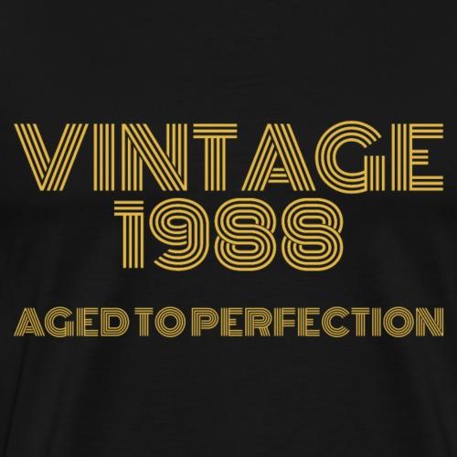 Vintage Pop Art 1988 Birthday. Aged to perfection. - Men's Premium T-Shirt