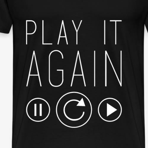 FESTIVAL PLAY IT AGAIN SUMMER MUSIC - Men's Premium T-Shirt