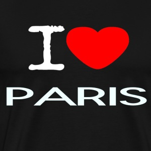 I LOVE PARIS - Premium T-skjorte for menn