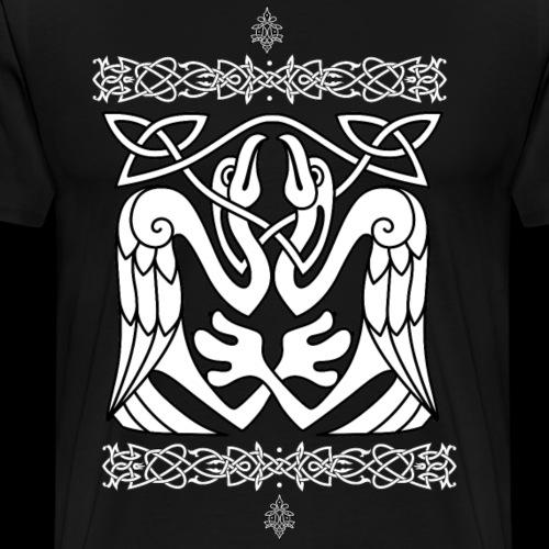 Keltischer Fischreiher - Männer Premium T-Shirt